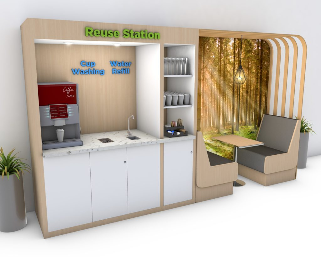 Recycling & reuse infrastructure for offices