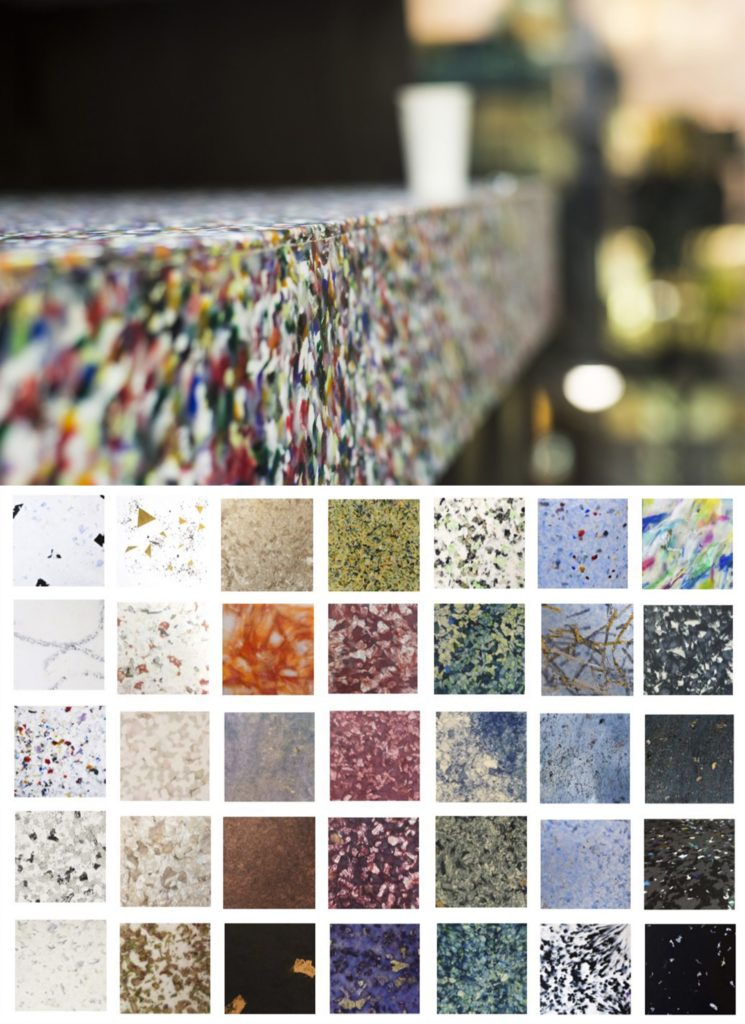 Bespoke-design recycling & reuse infrastructure. Custom materials made from post-consumer products